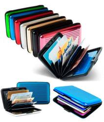 All India Handicrafts Amazing Aluminium Credit Card Holder- Multi colour
