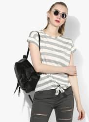 Off White Striped T Shirt