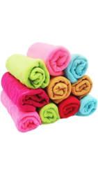 JARS Collections Set Of 12 Flower Design Face Towels