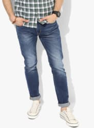 Blue Washed Skinny Fit Jeans