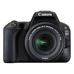 Canon EOS 200D DSLR Camera (EF-S18-55 IS STM & EF-S55-250 IS STM) (Black)