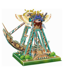 Webby Swinging Ship 3D DIY Paper Jigsaw Puzzle With Light and Music