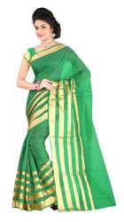 Indian Beauty Green Cotton Sari