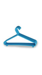 All Time Blue Plastic Hanger 033 Set Of 12 - Assorted colours