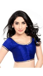 Indian Beauty Blue Bangalori Silk Unstitch Blouse Piece