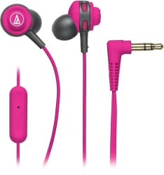 Audio Technica ATH COR150iS PK Headset with Mic (Pink, In the Ear)