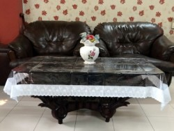 Katwa Clasic Solid 2 Seater Table Cover (Transparent, PVC)