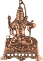 Sri Alankar Black Metal Lord Shiva Showpiece - 28 cm (Brass, Brown)
