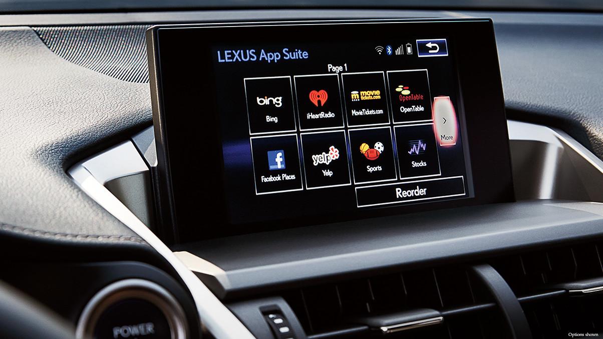 2015 Lexus RX interior app suite