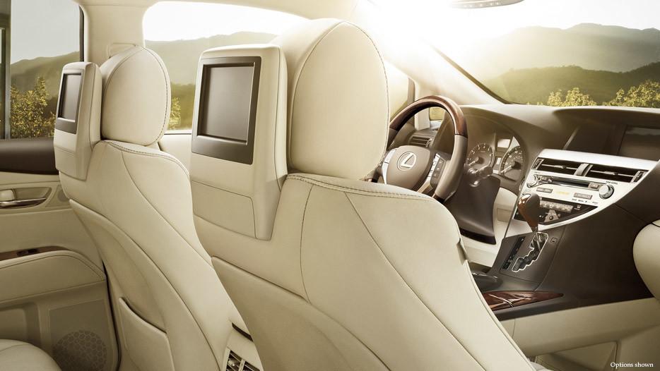 2015 Lexus RX interior rear seat entertainment