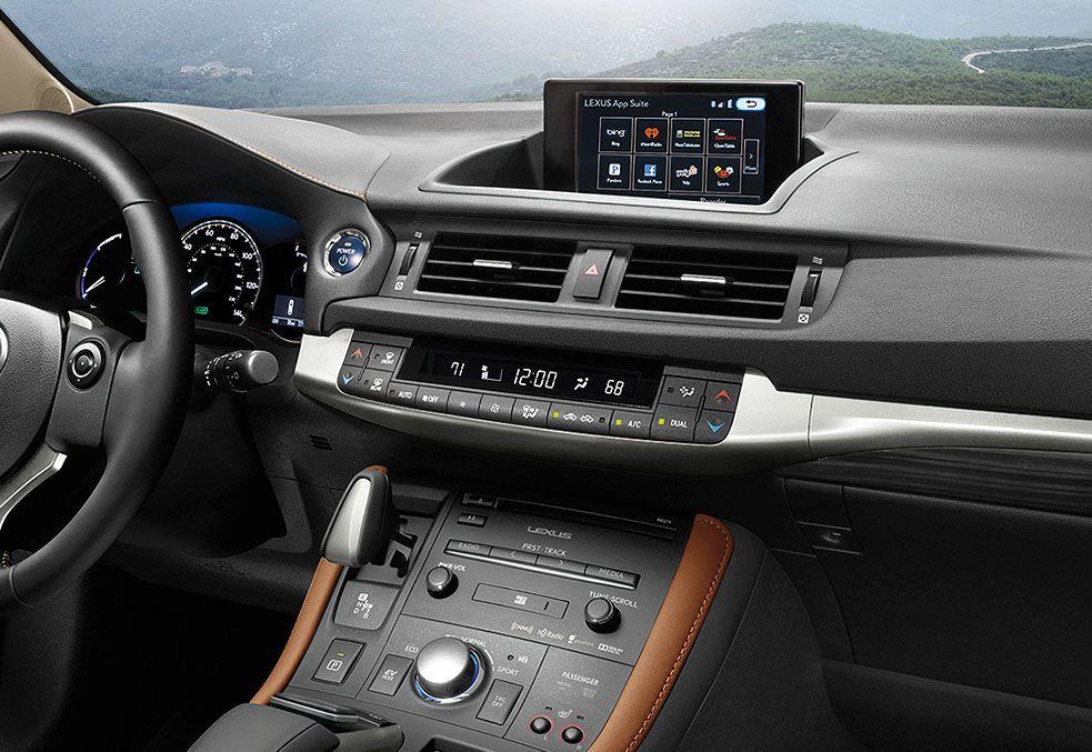 Cockpit in the 2015 Lexus CT Hybrid