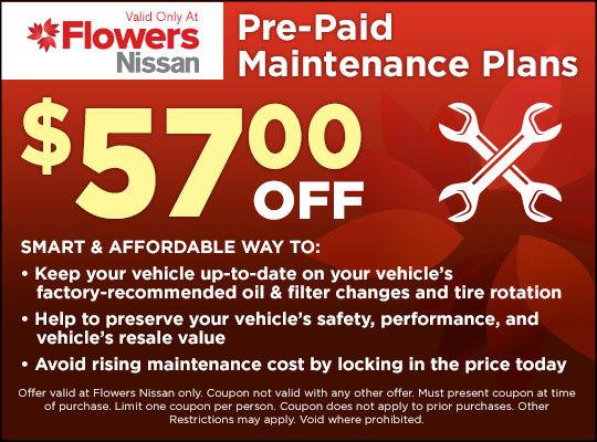 Flowers Nissan Thomasville Ga >> Nissan Service Deals Discount Flowers Nissan Thomasville Ga
