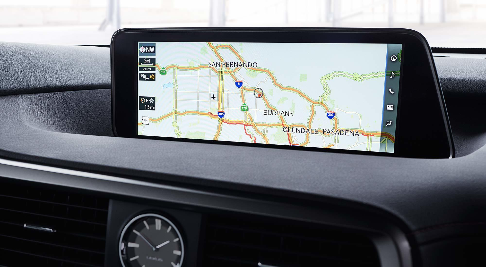 RX 12.3-inch Monitor with Full Screen Map