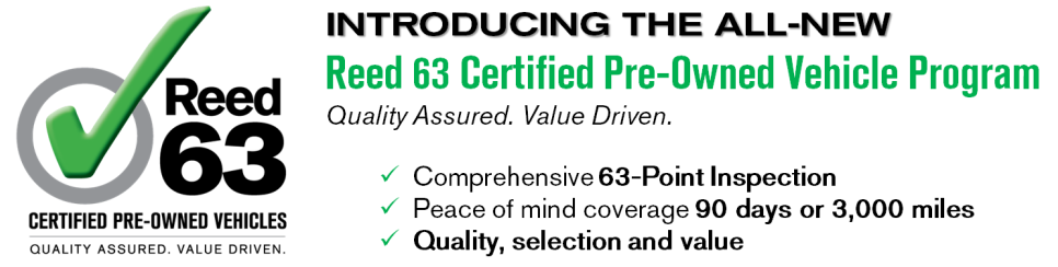 Reed 63 Certified Pre-Owned Vehicles Program