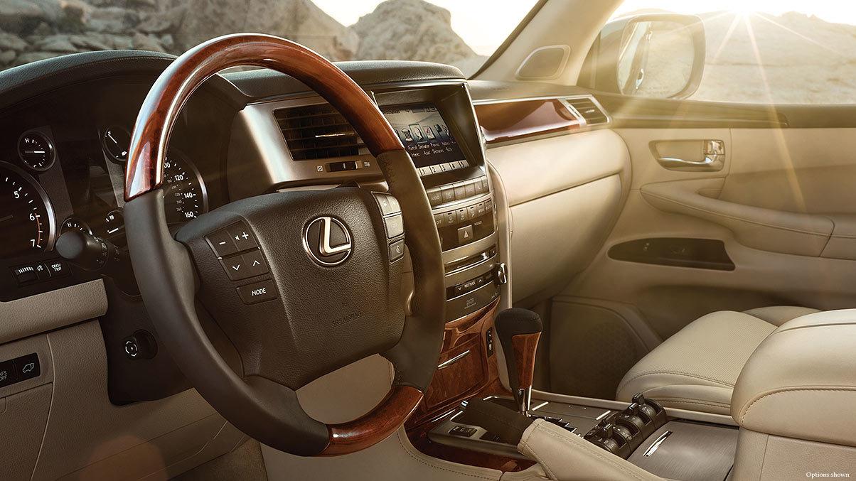 2015 Lexus LX Steering Wood-Trimmed Steering Wheel