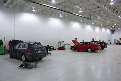 Crown Toyota Lawrence Body Shop Floor