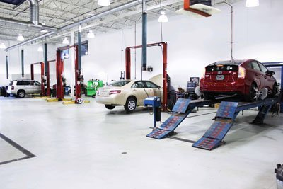 Crown Toyota Lawrence Service Department Bays