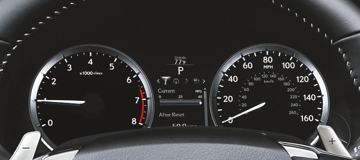 Lexus IS Information Gauges