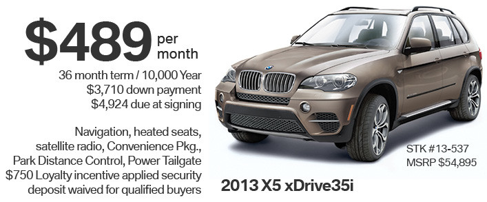 2013 X5 Lease Special  BMW Car Loans