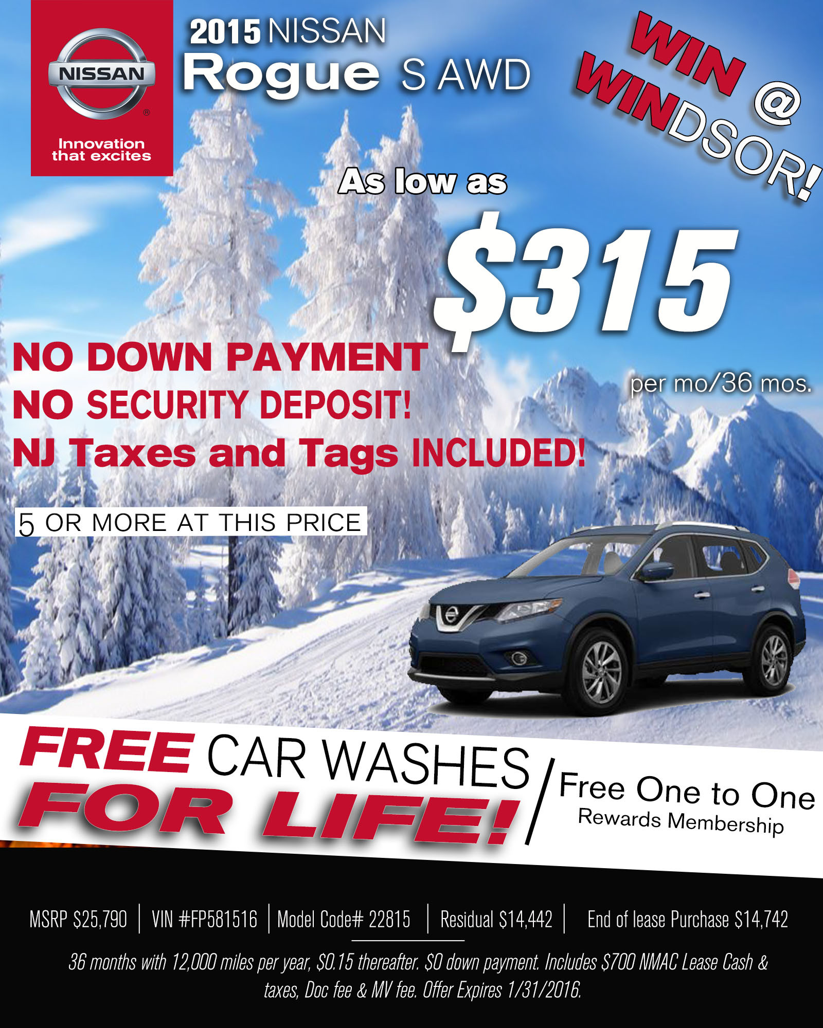 Rogue Sign and Drive Lease Windsor Nissan