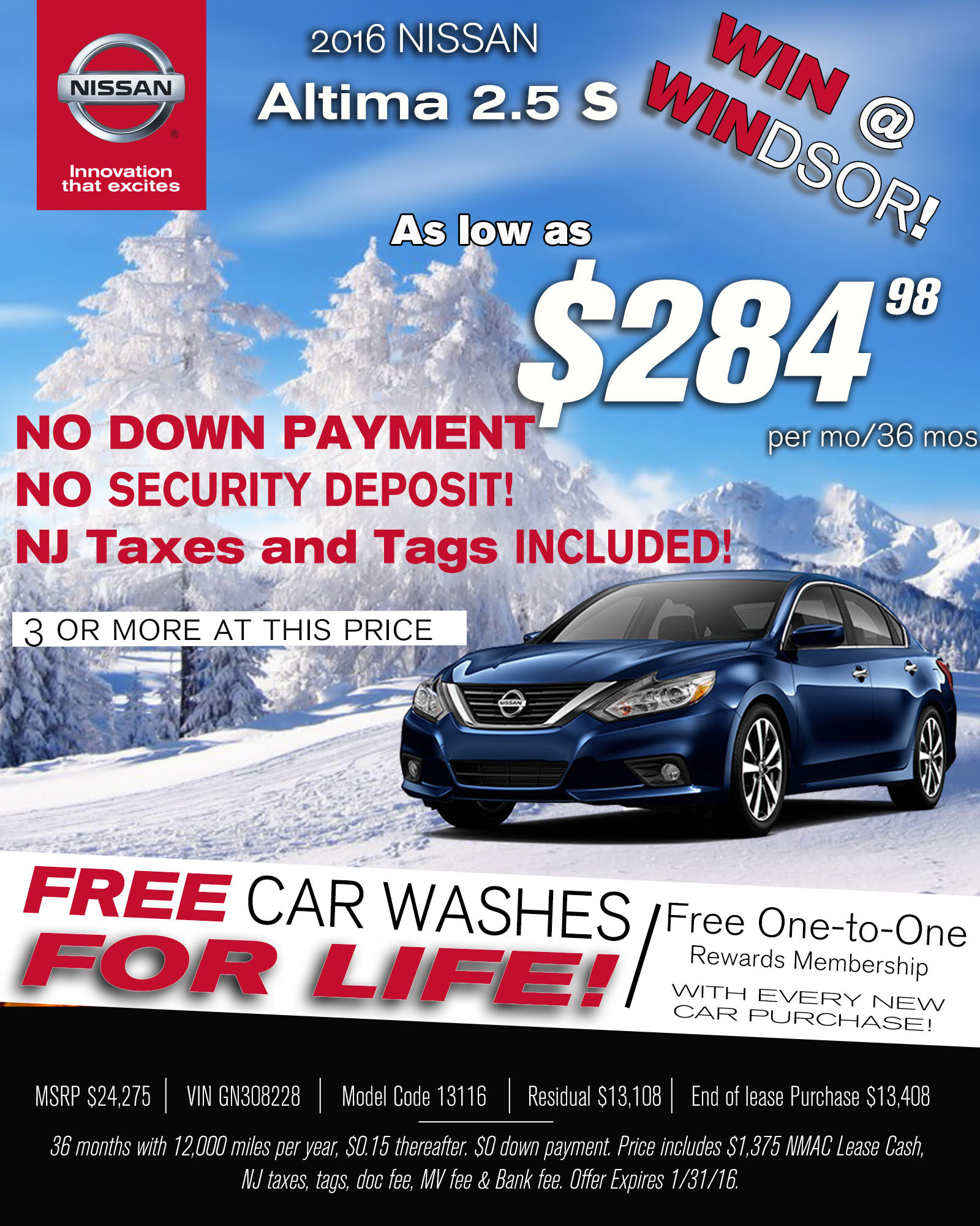 Altima Sign and Drive Lease Windsor Nissan