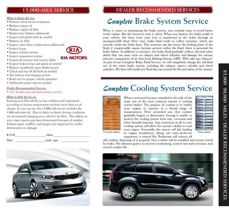 Service & Parts Menu- AllStar Kia Pomona