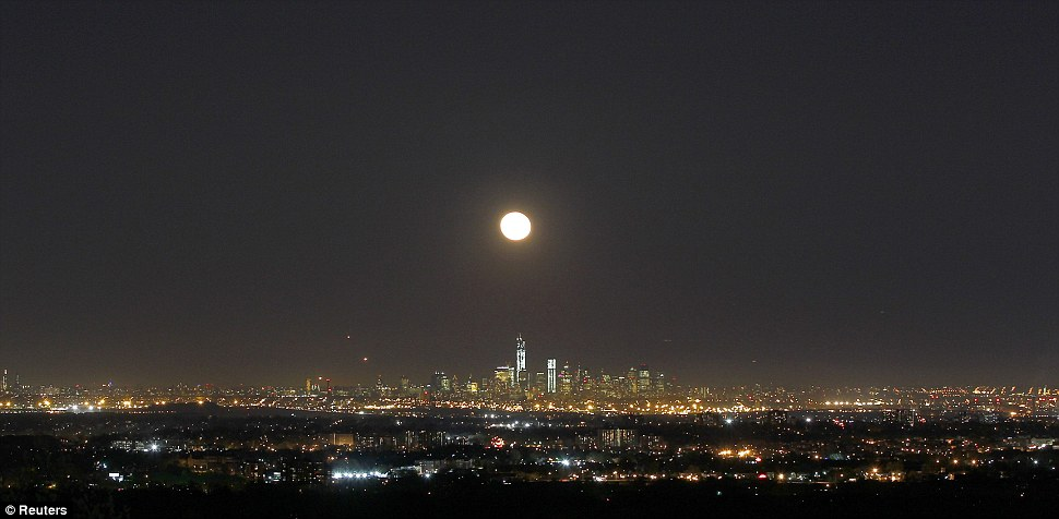 80s lyrics come to mind: When you get caught between the moon and New York city...