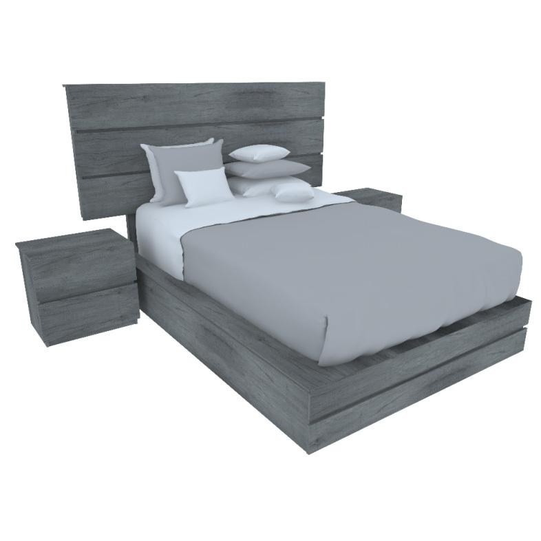 Recamara 3 pzs brio muebles recamaras modernas 9 709 for Cuanto cuesta una recamara completa