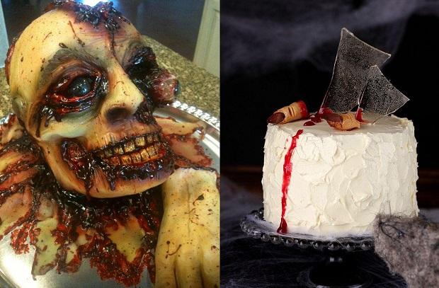 Торт в стиле хэллоуин