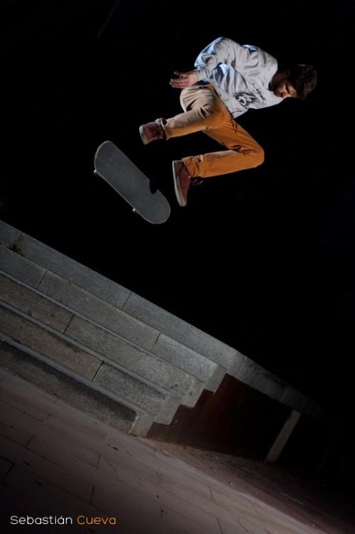 Iluminación mediante strobist en Skateboard