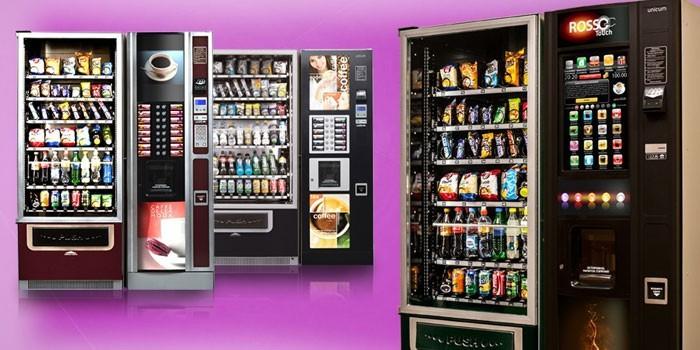 Вендинговые аппараты по продаже снеков и напитков