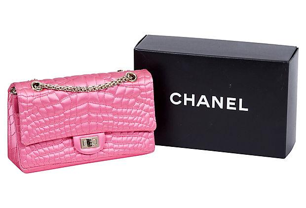 Chanel pink satin