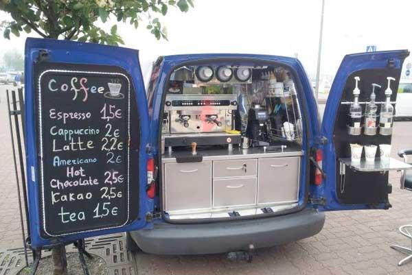 Автомобиль кофейня