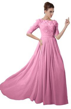 Pink puffy bridesmaid dresses