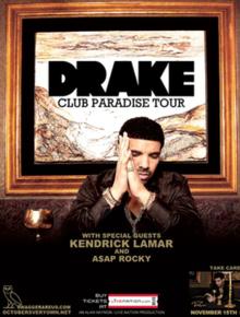 Drake club paradise tour 2012 tickets