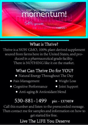 Energy Back by Thriving Le Vel Mission to Thrive for better Health