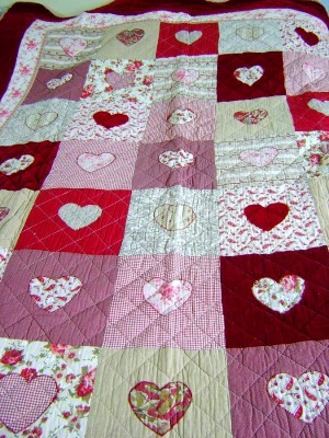 Colcha de corazones #Patchwork | Fiber Arts and Quiting Ideas | Pinte ...