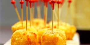Honey glazed Fried Manchego Cheese - Chuck's Day Off