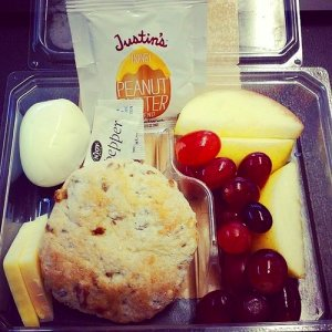 Protein bistro box (hard-boiled egg, cheddar cheese, honey peanut ...