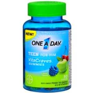 One A Day VitaCraves Teen for Him Multivitamin Gummies Assorted ...