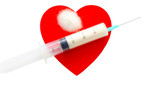 ... set on a heart, depicting diabetes and heart disease. (iStock Image
