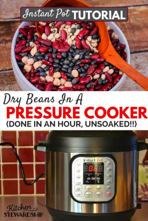 How to Pressure Cook Dry Beans/Legumes (with OR without ...
