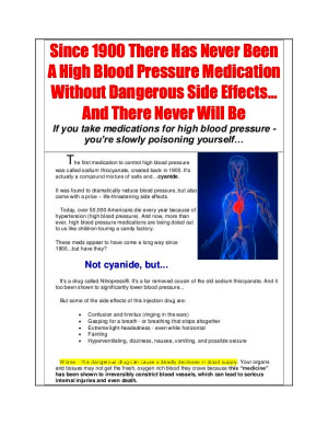 High Blood Pressure Landing Page