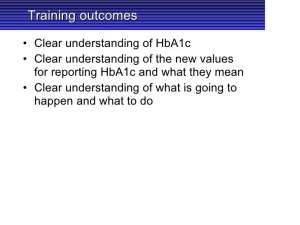 New Hb A1c Numbers Presentation