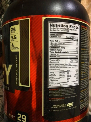 How many calories are there in one scoop of whey protein ...