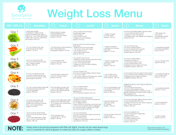 Balanced diet to lose weight menu / Men day program