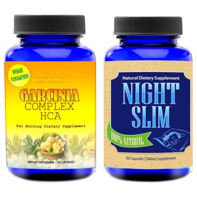 Totally Products Garcinia Cambogia HCA Extreme (90 Count) & Night Slim ...
