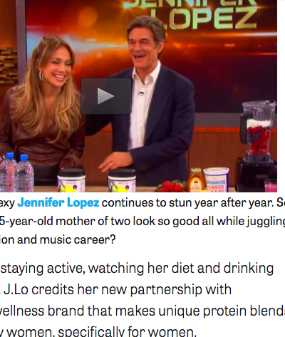... Lopez (Shares Secrets on Staying Happy and Healthy with Dr. Oz