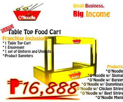 Table Top Package - Pinoy Foods Franchise