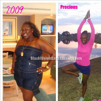 Precious lost 107 pounds | Black Weight Loss Success